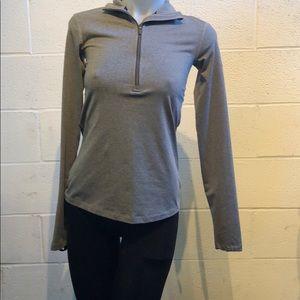 Nike pro gray 1/3 zip size small 59797